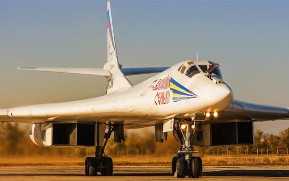 Wallpaper Tu-160 Bomber, Swan, airport