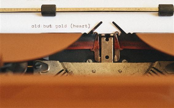 Wallpaper Typewriter, old equipment