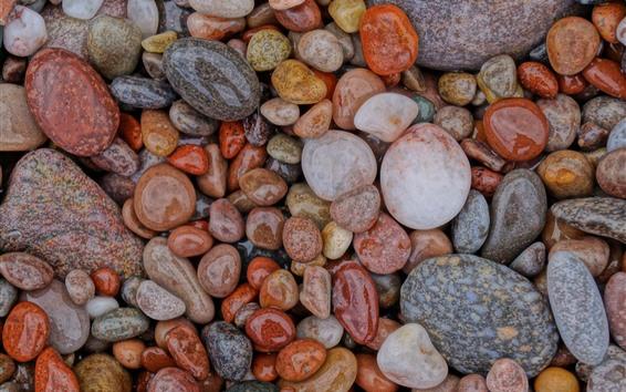 Papéis de Parede Pedras molhadas, pedras