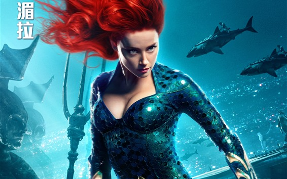 Wallpaper Amber Heard, Mera, Aquaman 2018