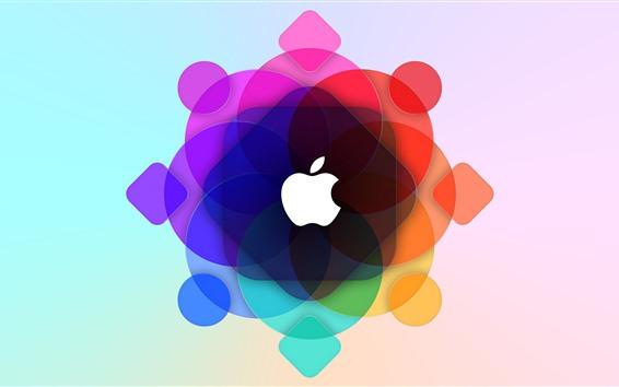 Обои Яблоко, разноцветные круги