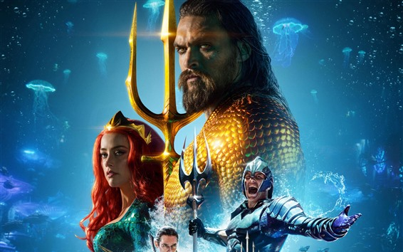 Wallpaper Aquaman 2018, Marvel hero