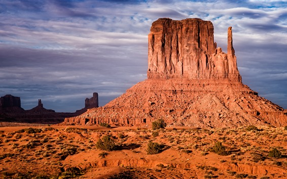 Wallpaper Arizona, monument valley, clouds, USA