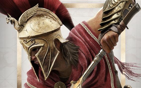 Papéis de Parede Assassin's Creed: Odyssey, armadura, espada