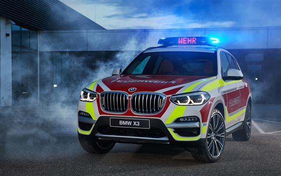 Обои BMW X3 xDrive20d автомобиль вид спереди