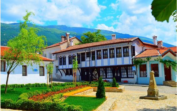 Papéis de Parede Bulgária, Karlovo, casa, Vivenda