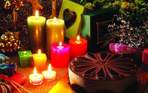Fond d'écran Bougies, flamme, gâteau, vacances