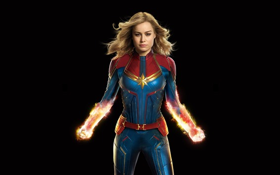 Wallpaper Captain Marvel, superhero, DC Comics