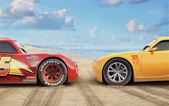 Wallpaper Cars 3, red and yellow car