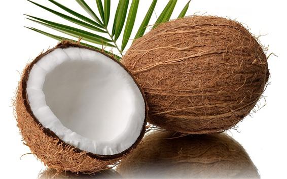 Fond d'écran Noix de coco, moitié, fruit