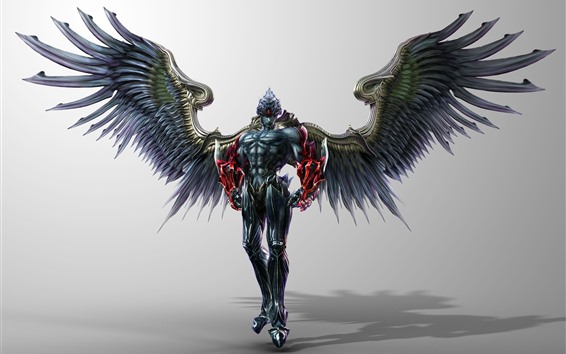 Wallpaper Demon, wings, armor