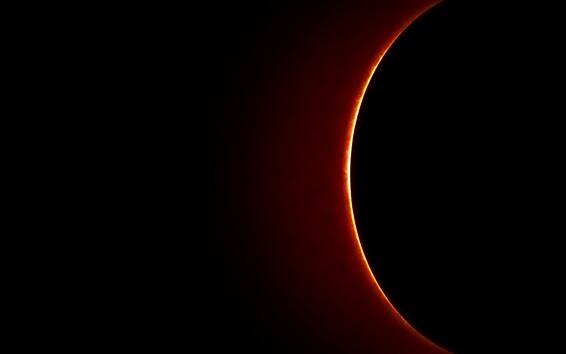 Wallpaper Eclipse, planets, black space