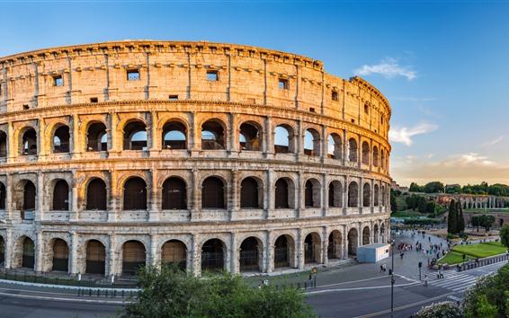 Fond d'écran Europe, Italie, Rome, Colisée, ruines, ville
