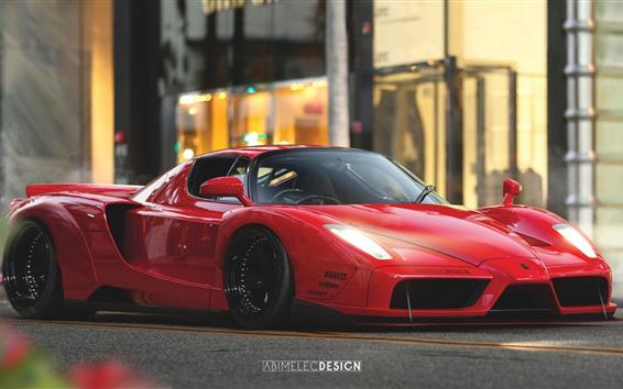 Fondos de pantalla Supercar Ferrari Enzo rojo