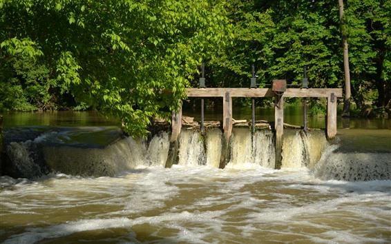 Fondos de pantalla Francia, arroyo, agua, árboles