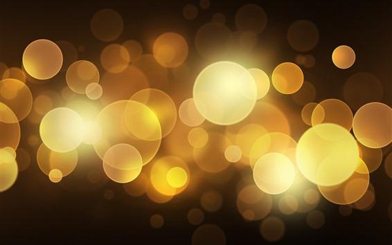 Wallpaper Golden light circles, bright, glare