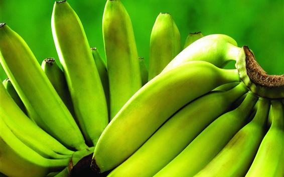 Wallpaper Green bananas, unripe