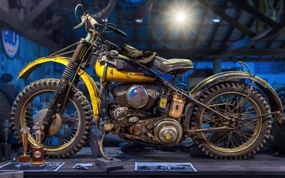 Wallpaper Harley-Davidson retro motorcycle