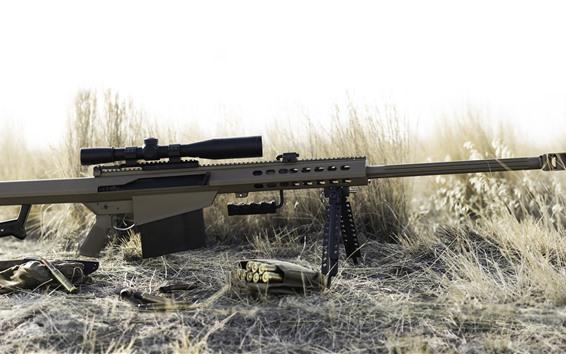Papéis de Parede Rifle pesado, atirador furtivo, arma, grama