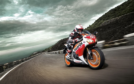 Wallpaper Honda CBR1000RR motorcycle, speed, race