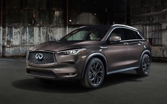 Fondos de pantalla Infiniti QX50 marrón coche 2019