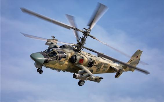 Wallpaper Ka-52 Alligator helicopter