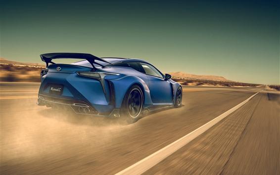 Обои Lexus LC синяя скорость суперкара
