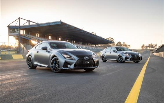 Fondos de pantalla Coches Lexus RC y GS plateados.