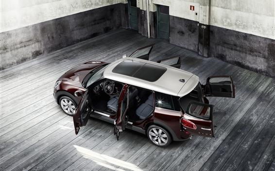 Wallpaper MINI Cooper S car, doors opened