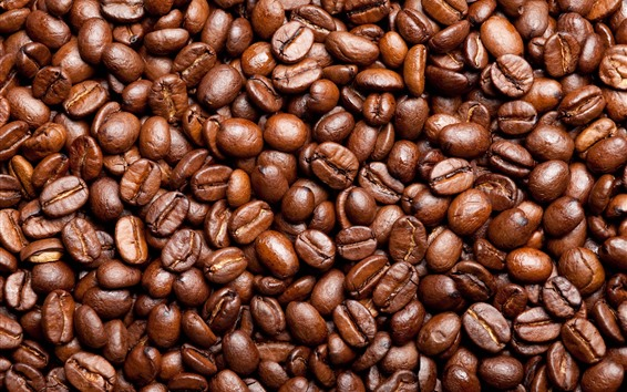 Wallpaper Many coffee beans background