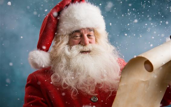 Wallpaper Merry Christmas, Santa Claus, snowy