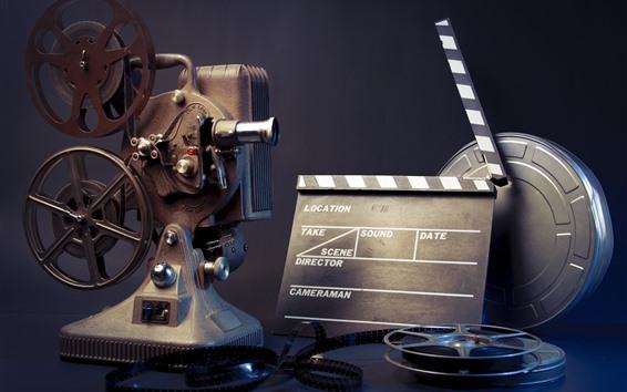 Wallpaper Movie player, vintage