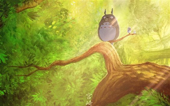 Papéis de Parede Meu vizinho Totoro, Hayao Miyazaki, anime clássico