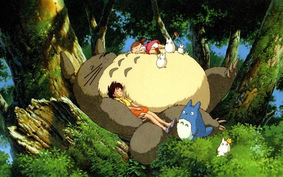 Fond d'écran Mon voisin Totoro, Hayao Miyazaki, enfance heureuse