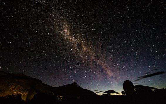 Fond d'écran Nuit, étoilé, ciel