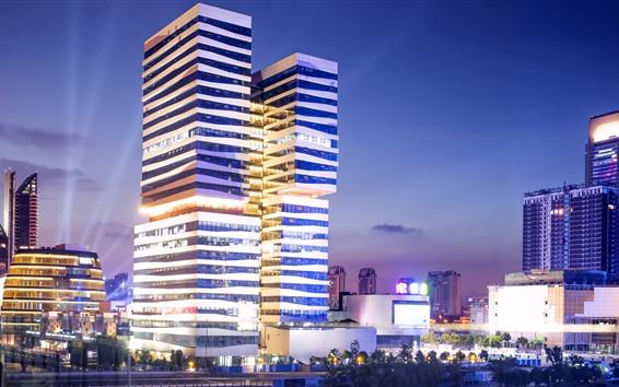 Fondos de pantalla Ningbo, China, rascacielos, iluminación, ciudad