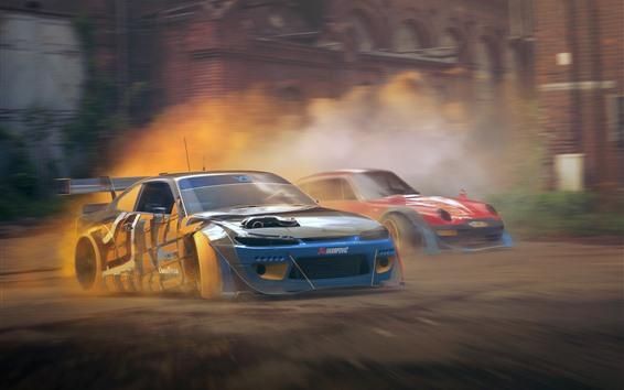 Fondos de pantalla Nissan Silvia S15 y Porsche 911, coches, velocidad, polvo