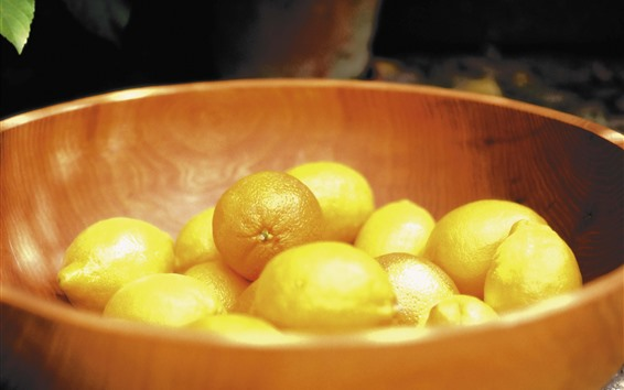 Fondos de pantalla Un bol de limones
