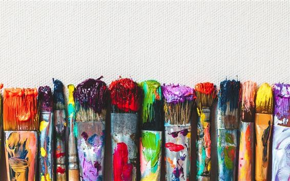 Fondos de pantalla Pinceles para pintar, coloridos