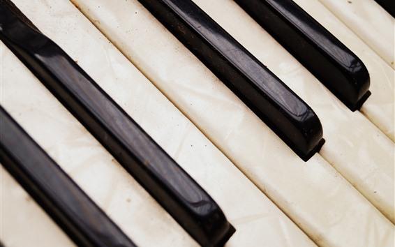 Wallpaper Piano keys, dust
