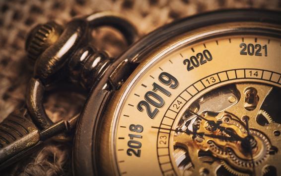Wallpaper Pocket watch, New Year 2019