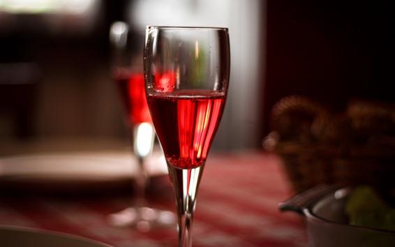 Fondos de pantalla Vino tinto, copa de cristal
