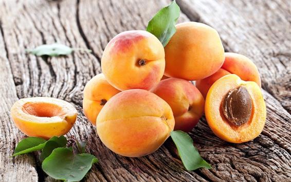 Fond d'écran Fruits mûrs, abricots