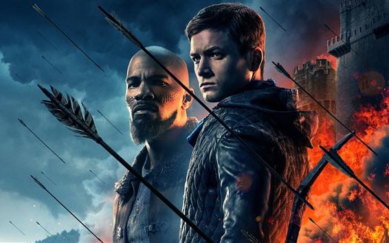 Fondos de pantalla Robin Hood 2018, fortaleza, flechas