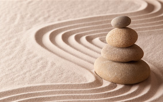Обои Песок, камни, натюрморт