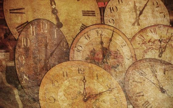 Wallpaper Some clocks, texture background