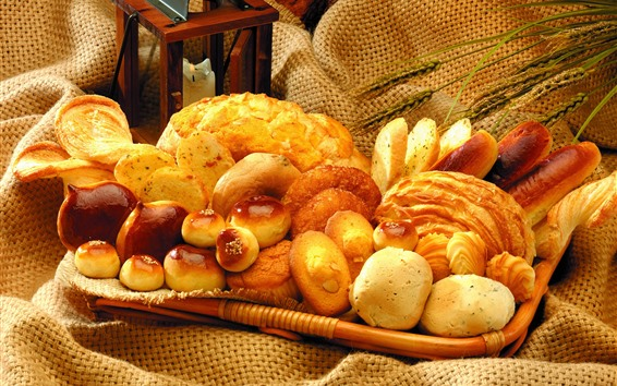 Wallpaper Some different kinds of bread
