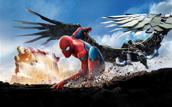 Wallpaper Spider-Man and Iron Man