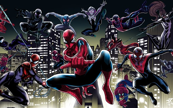 Wallpaper Spider-man, pose, art picture