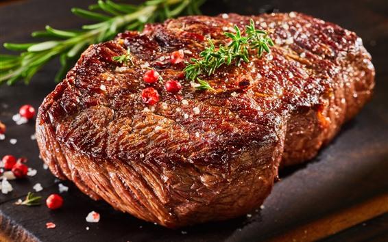 Обои Стейк, мясо, шашлык